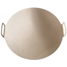 GI METAL Round Aluminum Tray Ø 36. Pleated Handles. Easy To Pile Up