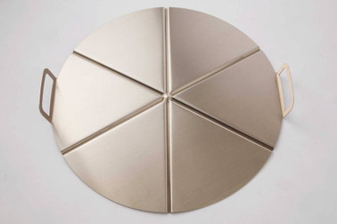 GI METAL Aluminum Tray Ø45Cm, Pleated Handles, 6 Portions. Stackable