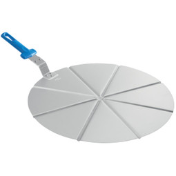 GI METAL Alum. Pizza Tray Ø 45 Cm,Fixed Grip, 8 Portions