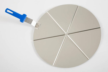 GI METAL Alum. Pizza Tray Ø 45 Cm, Fixed Grip,  6 Portions