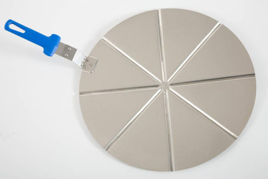 GI METAL Alum. Pizza Tray Ø 50 Cm, Fixed Grip, 8 Portions