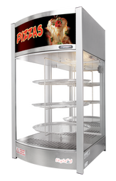 SKYFOOD PIZZA DISPLAY CASE - TRIPLE TRAY 14''  - STEAM LINE