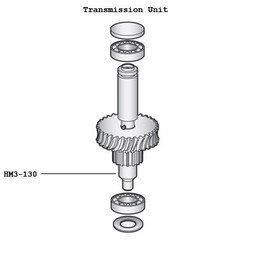 Hobart 291130 Worm Gear Shaft For D300 Mixers