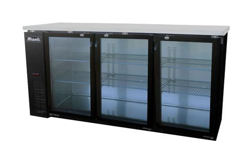 Migali C-BB72G Glass Door Back Bar Refrigerator (19.6 cu ft)