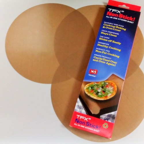 "TFX NonStick! 8"" Pizza Circle sheet (3-pack)"