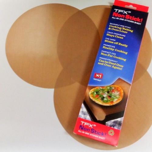 "TFX NonStick! 10"" Pizza Circle sheet (3-pack)"