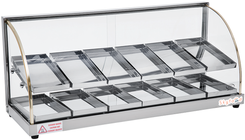 SKYFOOD 37'' FOOD WARMER DISPLAY CASE - DOUBLE SHELF - ECONOMY LINE