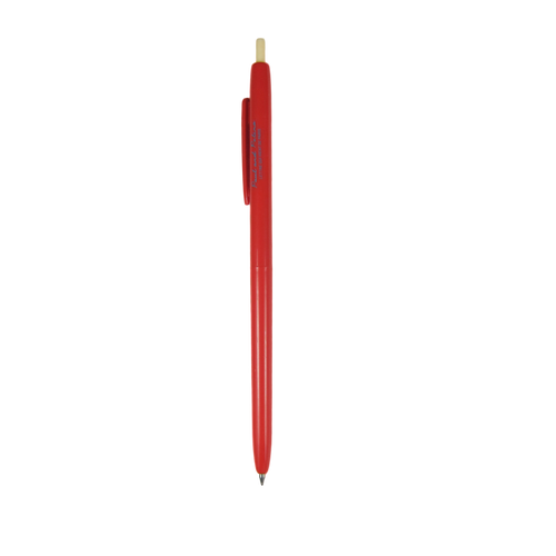 Retractable ballpoint ink pen (Red)