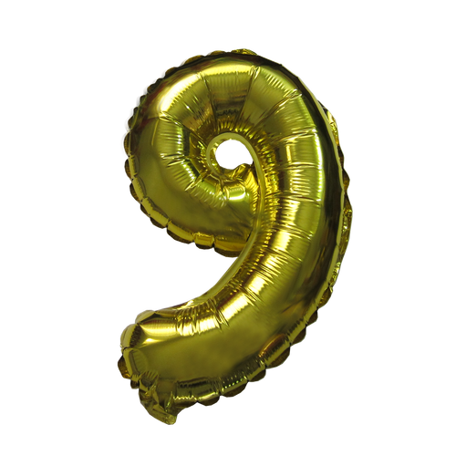 Number Balloons (Gold 9)