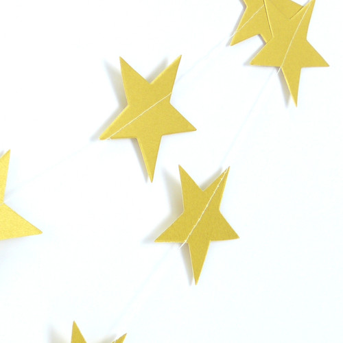 Paper Star Garland for Party Decorations