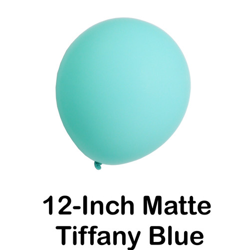 12 inch Latex Balloon in Tiffany Blue Matte (5 ct)