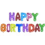 14 inch Alphabet Balloons Set (Happy Birthday - Assorted Color)