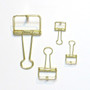 4pcs Metallic Skeleton Binder Clips Set (Gold / Silver / Pink / Green)
