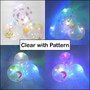 """12"""" LED Latex Balloons (5ct - Marble / Color / Clear)"""