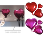 Heart Shape Foil Balloon (10 inch / 17 inch)