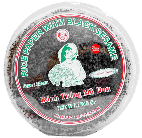 Twin Rabbit Rice Paper with Black Sesame 500g