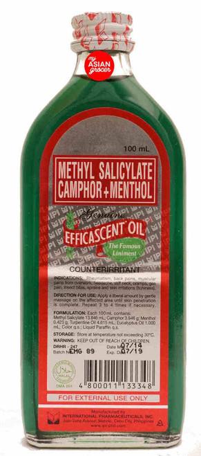 Methyl Salicylate Camphor + Menthol Genuine Efficascent Oil 100ml