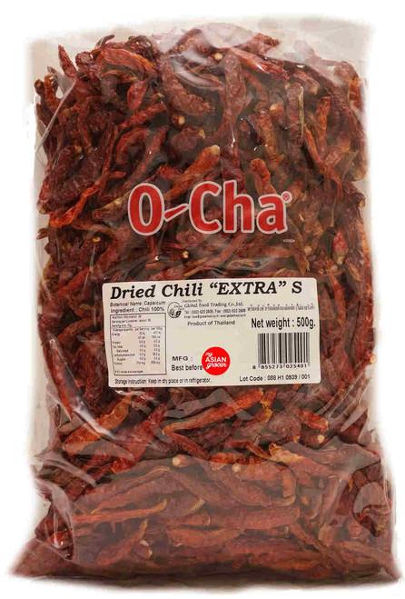 "O-Cha Dried Chili ""Extra"" S 500g"