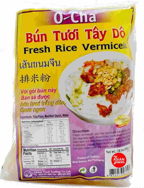 O-Cha Fresh Rice Vermicelli 400g