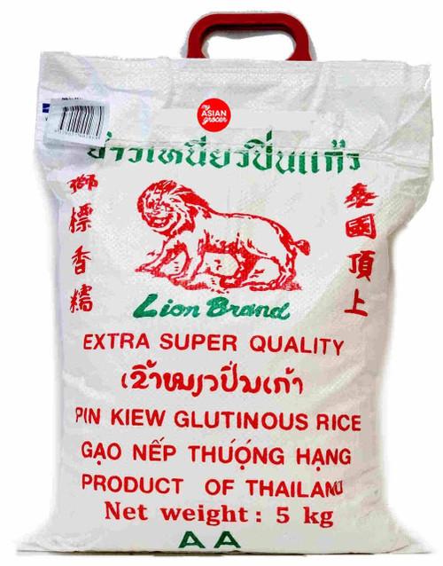 Lion Brand Pin Kiew Glutinous Rice 5kg