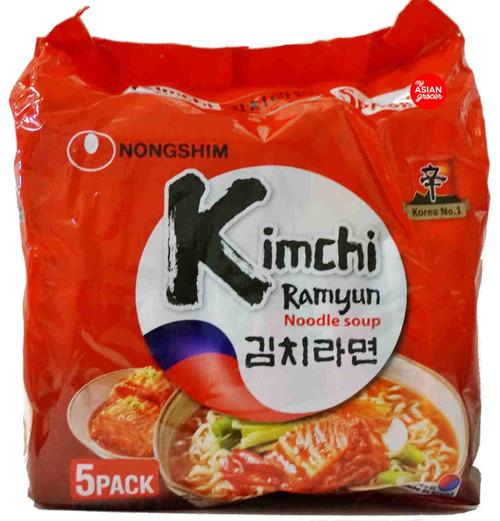 Nongshim Kimchi Ramyun Noodle Soup 120g x 5 Pack