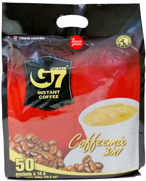 Trung Nguyen Coffee G7 Instant Coffee Mix 3in1 16g x 50 Packets
