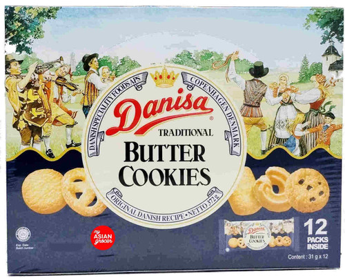 Danisa Traditional Butter Cookies 31g x 12 Packs