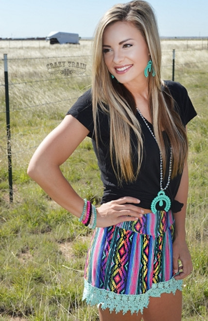 Crazy Train Serape Shorts *SALE*