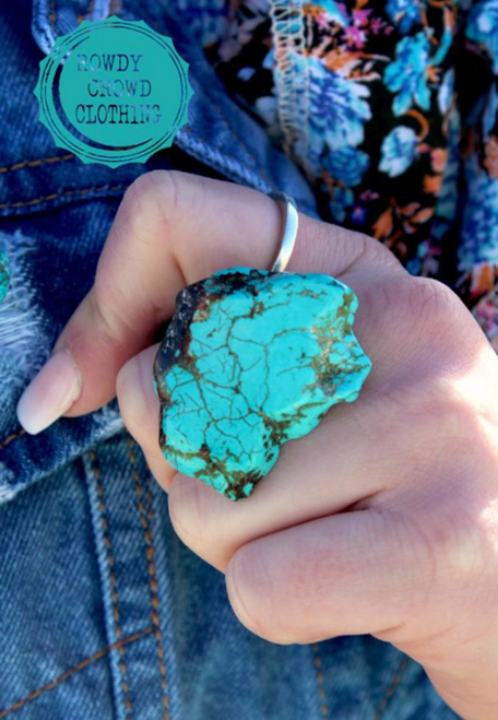 NEW Turquoise Slab Guinevere Ring