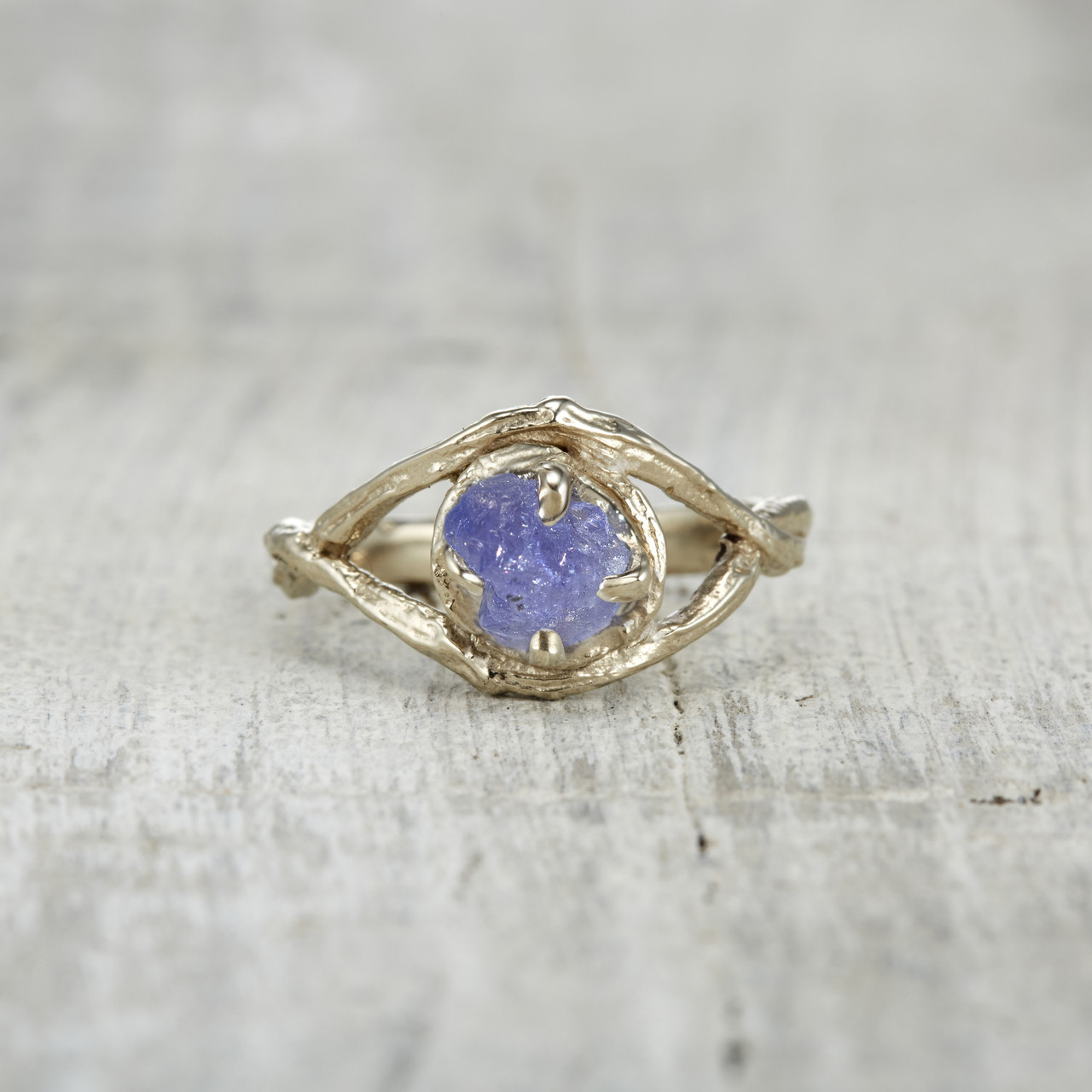 diamond tanzanite white double ring engagement in and tanzinate bypass gold rings