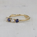 sapphire and diamond twig ring