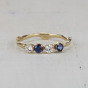 nature inspired sapphire twig wedding band