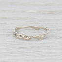 pave diamond twig wedding band