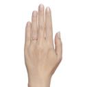 pink sapphire engagement ring and diamond wedding band set