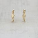 small twig hoop earrings