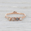 four stone ring featuring silver diamonds