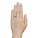unique sapphire twig engagement ring