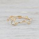 Bezel nature inspired engagement ring for her