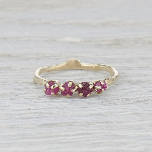 four stone ruby ring for her