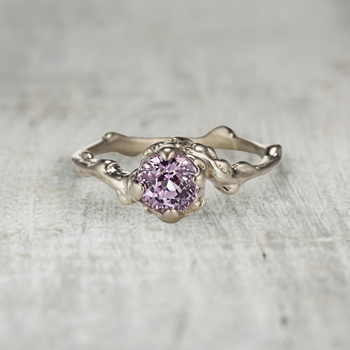 unique engagement ring pink sapphire