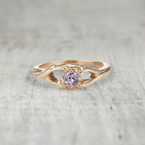 pink sapphire engagement ring for her