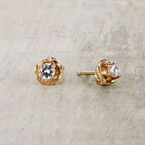 diamond nature inspired earring set