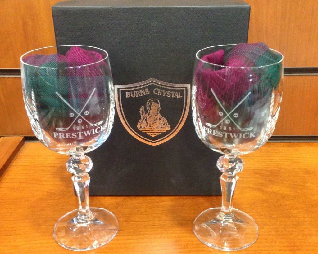 Burns Crystal Wine Glasses (Pair)