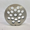"#12 Meat Grinder Plate with 3/8' Holes - ""Reversible Plate"" - 105762"