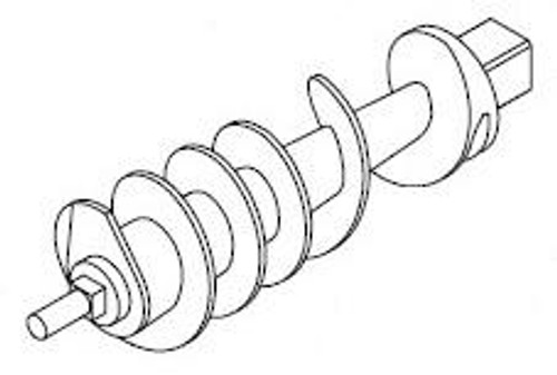 Hobart H549A - Worm Feed Screw - Hobart 4822 - Oval Head Bowl Only