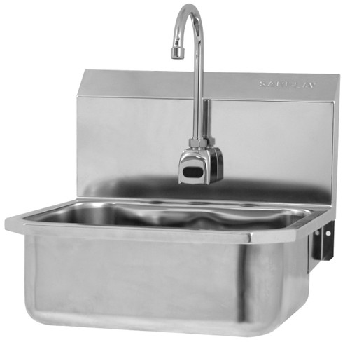 SANI-LAV ES2-505L & ESB2-505L Hands Free Sink - Stainless Steel - Wall Mount