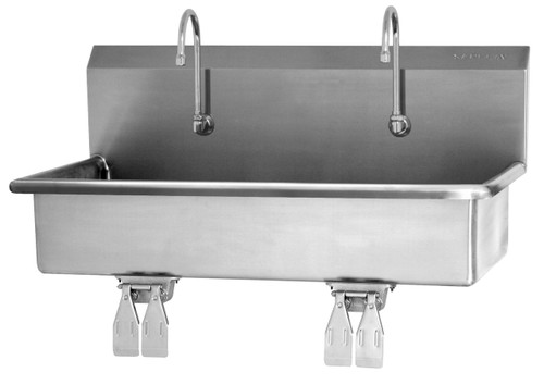SANI-LAV 54WSL 2-Person Wash Station - Stainless Steel - Wall Mount