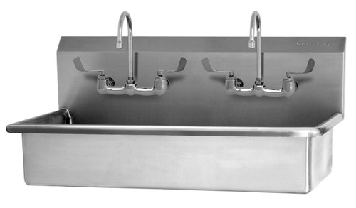 SANI-LAV 54WFL 2-Person Wash Station - Stainless Steel - Wall Mount