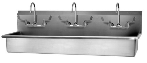 SANI-LAV 56WFL 3-Person Wash Station - Stainless Steel - Wall Mount