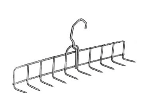 "Stainless Steel Bacon Hanger (11 1/2"") - 10 Prongs"